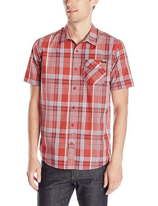 O'Neill Men's Shirt Button-Down Short Sleeve Chest Pocket Licensed NEW