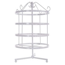 Jewelry Tower Stand Display Organizer 4 Tier Rotating Spin Holder Multi ... - $30.36