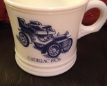 Vintage Milk glass Cadillac 1903 Shaving Mug Cup, Surrey, Made In The U.S.A.