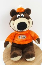 """A&W Rootbeer Bear Plush Brown Teddy Orange Outfit Stuffed Animal Toy 13""""  - $19.91"""