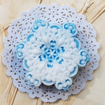 egbhouse design Snowflake sn18001 - 2D silicone Soap/polymer/clay mold - $27.72