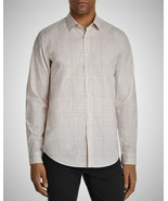 Theory Mens Murrary Dada Melange NWT $195 Plaid Button-down Shirt Pink P... - $58.26