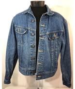 VTG Lee Jean Jacket Blue Denim Made USA 80's 90's Chore Riders Small Blu... - $59.99