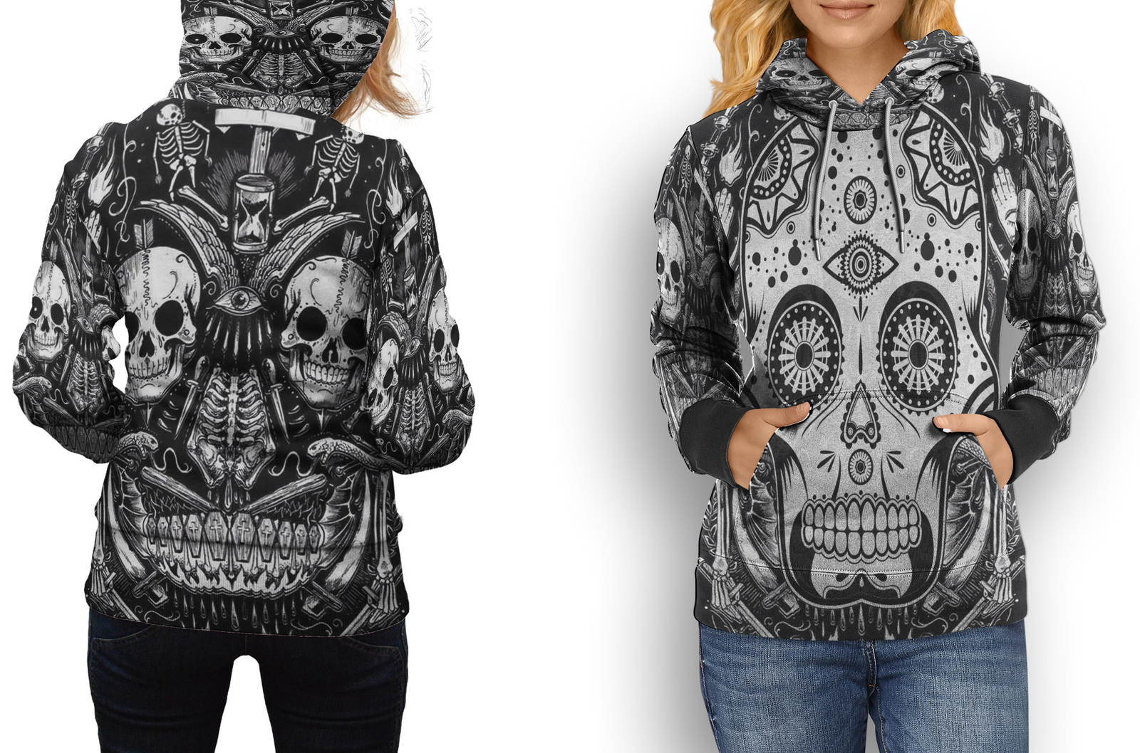 HOODIE WOMEN Skull Day of the Dead