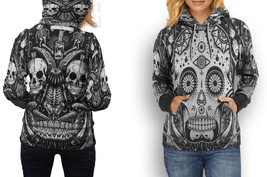 HOODIE WOMEN Skull Day of the Dead - $43.99+
