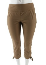 Women with Control Petite Tummy Control Crop Pants Safari Taupe PL NEW A... - $24.73