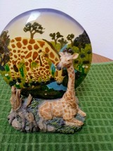 Unique Resting Giraffe Statue & Mother/ Baby Plate on Rockery Base made in China image 1