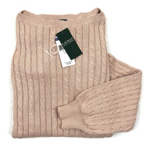 Lauren Ralph Lauren Cable Knit Sweater Boatneck Sweater Size L - $69.99