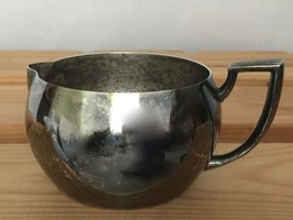 Oneida Silversmiths Silverplate Creamer Handled Tarnished Vintage Art Deco - $19.40