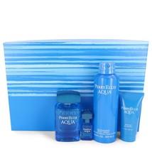 Perry Ellis Aqua Gift Set - 3.4 Oz Eau De Toilette Spray + .25 Oz Mini Edt Sp... - $41.76