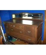 antique queen anne  cabinet buffet server  mahogany - $495.00