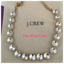 NWT J.Crew FACTORY Brass-plated crystal  Statement Necklace - $29.99