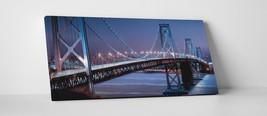 "Oakland Bridge Panoramic Skyline Gallery Wrapped Canvas Print. 45""x16"" - $129.15"