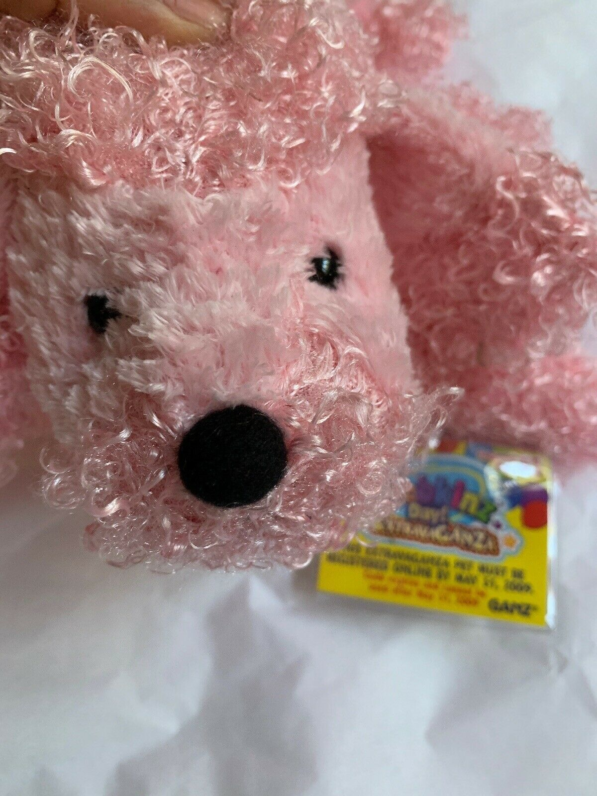 "7"" Ganz Webkinz Pink Poodle HM107 Plush Stuffed Animal W Used CODE Clean Cond image 6"