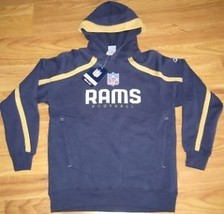 ST LOUIS RAMS HOODED SWEATSHIRT NEW L REEBOK LARGE LRG - $37.22
