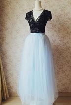 SKY BLUE Plus Size Tulle Maxi Skirt Something Blue Wedding Bridesmaid Skirts NWT image 6