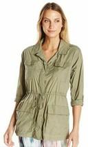 New Karen Kane Active Sage Green Military Water-Resistant Lightweight Ja... - $35.99