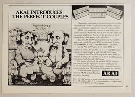 1977 Print Ad Akai Tuners & Amplifiers Drawn by Charles Bragg Compton,CA - $11.56