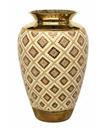 "20""H Gold Jeweled Decorative Handcrafted Vase Urn Bowl - $231.83"