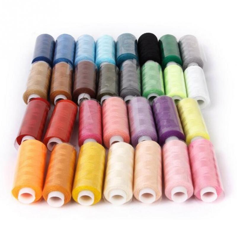 Sewing Thread Machine Embroidery 30pcs Polyester Colorful 250 Yard Craft Threads