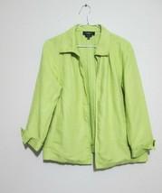 Talbots Irish Linen Lime Green Open Blazer Size M #M3 - $13.54