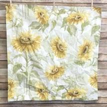 Pottery Barn Sunflower Seeds Euro Pillow Sham Floral Yellow - $19.80