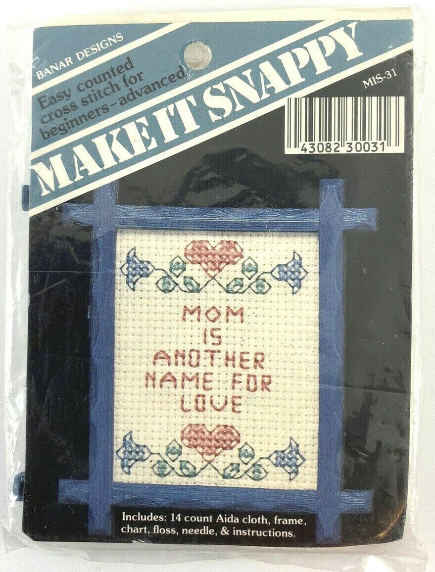 Made by Designs for the Needle. Title Counted Cross Stitch kit His Love