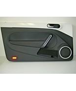 VOLKSWAGEN BEETLE 2012 LH Driver Door Panel Black White Trim OEM  5C1868... - $122.45