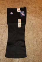 "DICKIES Jr Girl's Black School Uniform Capri Sz 5 Boot Cut 30"" x  21-1/2"" - $14.80"