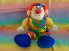 """Vintage 1992 Commonwealth Toy Circus Clown Plush Toy - 14"""" - as is - $22.72"""
