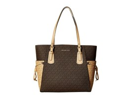 NWT MICHAEL KORS VOYAGER SIGNATURE EAST WEST TOTE BROWN BUTTERNUT - $181.89