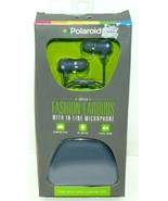 Polaroid PHP734 Fashion Earbuds With In-Line Microphone + Carrying Case ... - $0.99