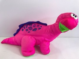 Fisher Price 1992 Puffalump #2222 Pink Dino Roar ROARING DINOSAUR Plush ... - $39.60