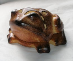 Ceramic Abstract Frog Toad Figurine Indoor Outdoor Tea Light Candle Hold... - $14.84