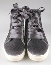 Brand New Women's Sara High Top Grey Velvet Sneakers Mossimo Supply Co image 2