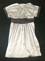 NWOT BCBG Generation Grayish Purple Lavender Silver Short Sleeve Dress Size 12 image 3