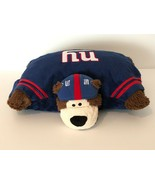 Pillow Pet NFL New York Giants Bear Football Mascot Bear Brown 2009 Blue... - $16.99