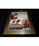 Black Hawk Down 2005 Xbox PS2 Framed 11x14 ORIGINAL Vintage Advertisement - $34.64
