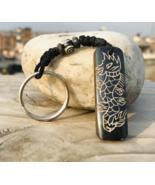 Dragon Carved Keychain Key Ring, Nepal.. - $2.87