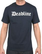 Deadline Uomo Blu Navy Ol' Old English D Lettere T-Shirt Nwt