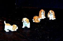 HOMCO Playful Puppy Figurines 1407 AA18 - 1167  Vintage set of 5 image 4