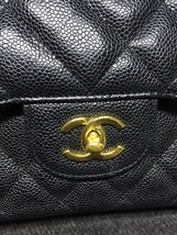 AUTHENTIC CHANEL BLACK CAVIAR QUILTED JUMBO DOUBLE FLAP BAG GOLD HARDWARE image 5
