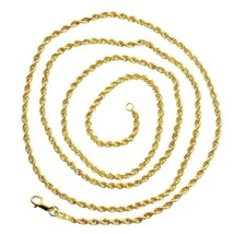 Mens Rope Link Solid 10K Yellow Gold 2.3 gram 2.1 mm Real Necklace 24 in... - £90.75 GBP