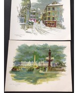 Two Prints of Paris by The Donald Art Co. 1960's - $14.75