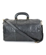 Authentic CHANEL Black Quilted Leather Duffel Bag #33002B - $1,590.00
