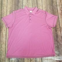Tommy Bahama Polo Shirt Adult XXL 2XL Purple Pima Cotton Rugby - $27.71