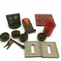 Fisher Price 2008 Trio Castle Building Black Bricks Replace Parts 11pc Misc pcs - $9.89