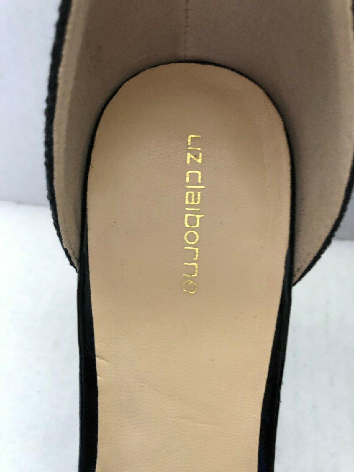 Liz Claiborne Heidy Jeweled Heeled Sandals Black Size 7.5 NWOB