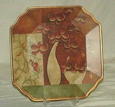 """Classic Style 10"""" Square Plate Floral Still Life Scene Decorative Purpos... - $24.74"""