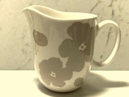 LENOX Creamer Floral Silhouette White & Khaki Porcelain Dishwasher & Microwave - $12.73